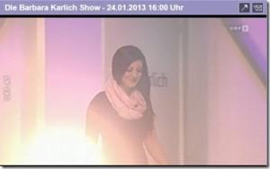 Presse Auftritt Barbara Karlich Show